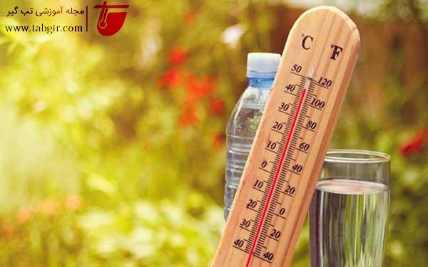 هوای گرم و ورم پا